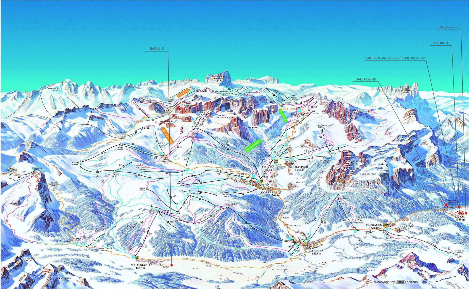 Alpy Alta Badia Sella Ronda noclegi apartamenty mieszkania